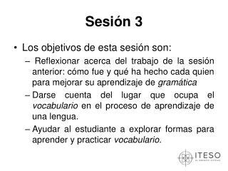 Sesi n 3