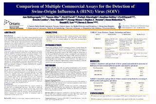 To evaluate the effectiveness of three commercial assays, the Luminex xTAG RVP, the Seeplex Respiratory  swine flu patch