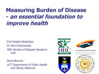 Measuring Burden of Disease  - an essential foundation to improve health
