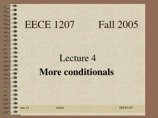 EECE 1207         Fall 2005