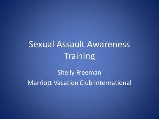 Sexual Assault Awareness Training