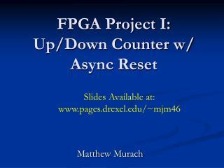 FPGA Project I: Up