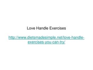 Love Handle Exercises
