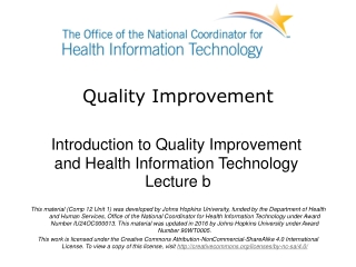 Unit 1: Promoting quality care