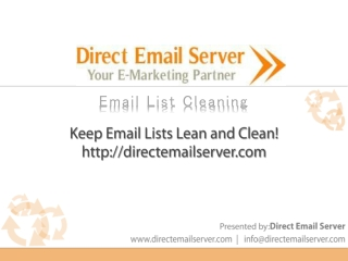best Email List Cleaning Service