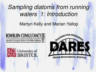 Sampling diatoms from running waters  1: Introduction