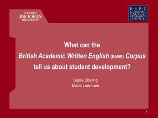 What can the British Academic Written English BAWE