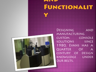 Control Room Solutions | Evans Online