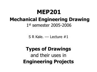 MEP201  Mechanical Engineering Drawing 1st semester 2005-2006