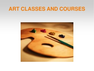 Art Classes And Courses