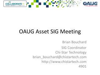 OAUG Asset SIG Meeting