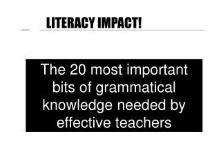 LITERACY IMPACT