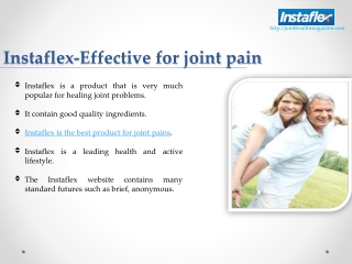 Instaflex-Effective for Joint Pain