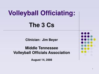 Volleyball Officiating:
