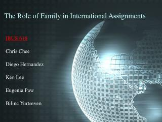 The Role of Family in International Assignments