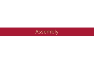 Assembly  Assemblers