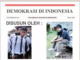 Demokrasi di Indonesia power point