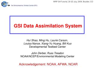 GSI Data Assimilation System
