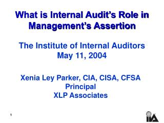 What is Internal Audit