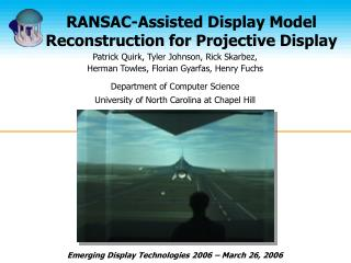 RANSAC-Assisted Display Model Reconstruction for Projective Display