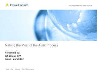 Internal Controls and the  Audit Process May 8, 2007