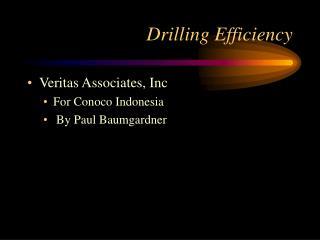 Drilling Efficiency