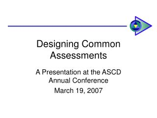 Designing Common Assessments