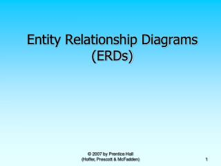 Entity Relationship Diagrams ERDs
