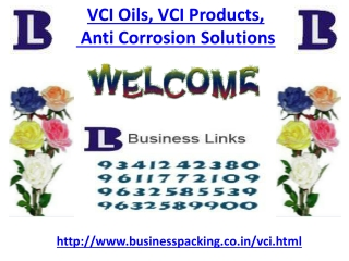 VCI Oils, VCI Products, Anti Corrosion Solutions