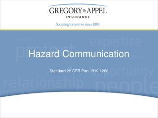 Standard 29 CFR Part 1910.1200