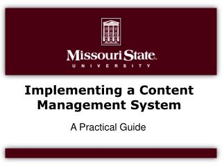 Implementing a Content Management System