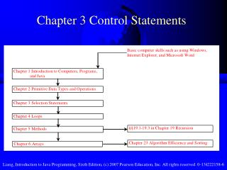 Chapter 3 Control Statements
