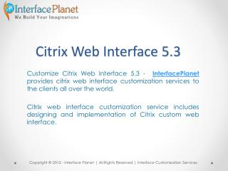Citrix Web Interface 5.3