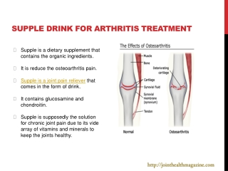Supple drink for arthritis treatment