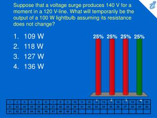 Suppose that a voltage surge produces 140 V for a moment in a 120 ...