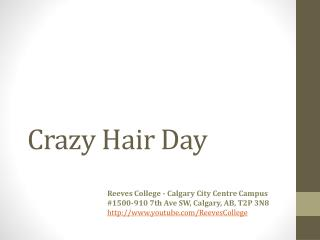 Crazy Hair Day Fundraising at Reeves College
