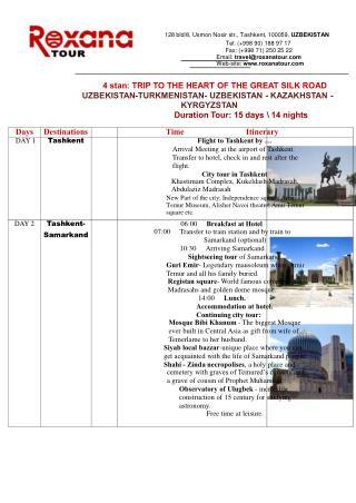 Uzbekistan travel package 2013 RoxanaTour.Com