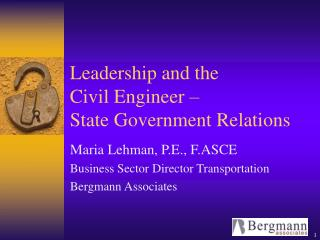 Leadership and the Civil Engineer