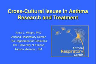 Cross-Cultural Issues in Asthma Research and Treatment