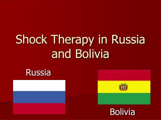 Shock Therapy in Russia and Bolivia