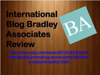 International Blog Bradley Associates Review: Berlin Program