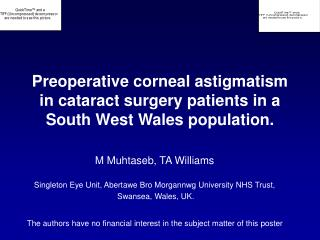 Preoperative corneal astigmatism in cataract surgery patients in a ...