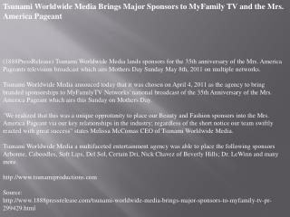 tsunami worldwide media brings major sponsors to myfamily tv