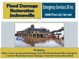 Flood Damage Restoration Jacksonville