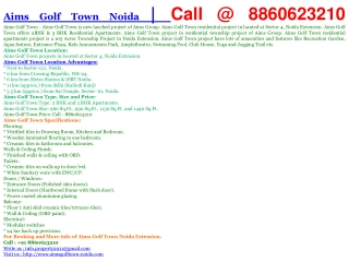 aims golf town, 8860623210, aims golf town noida, aims golf