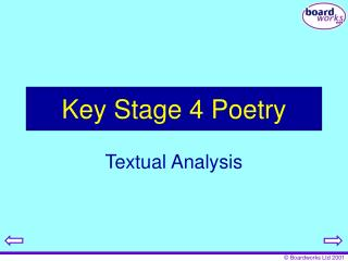Poetry - Textual Analysis