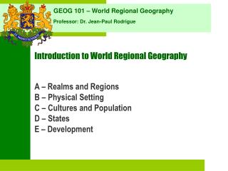 Introduction to World Regional Geography
