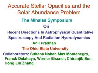 Accurate Stellar Opacities and the Solar Abundance Problem