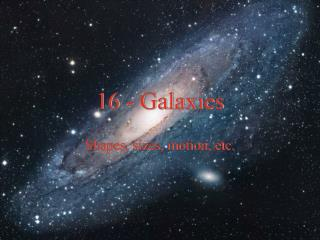 Ch. 9 - Galaxies