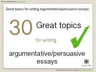 Essay Help | 30 Great Essay Topics For Writing Argumentative